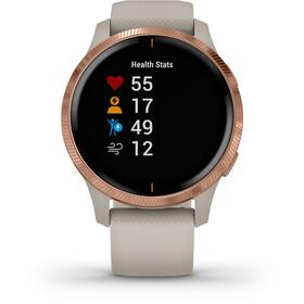 Garmin Venu Smartwatch, beige/rose gold
